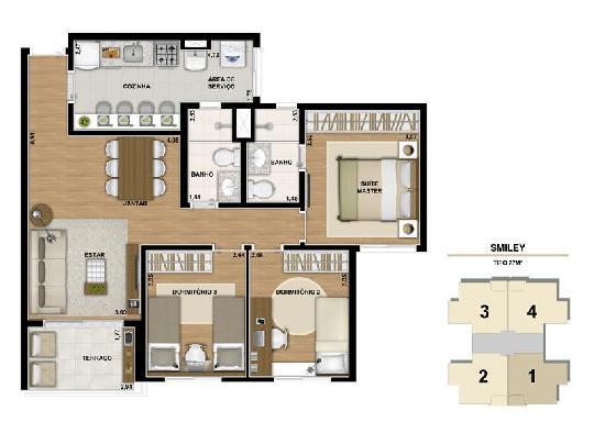 Apartamento Padrao de 3 dormitórios à venda em Jardim Monte Alegre, São Paulo - SP