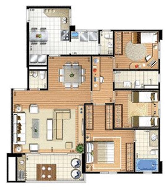 Apartamento de 3 dormitórios em Bela Vista, Osasco - SP