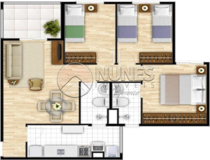Apartamento de 3 dormitórios em Esmeralda Park, Cotia - SP