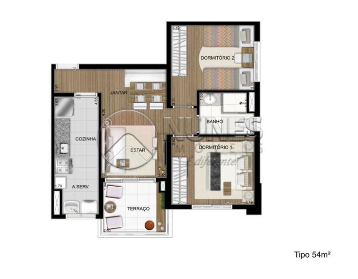 Apartamento de 2 dormitórios à venda em Jardim Bela Vista, Osasco - SP